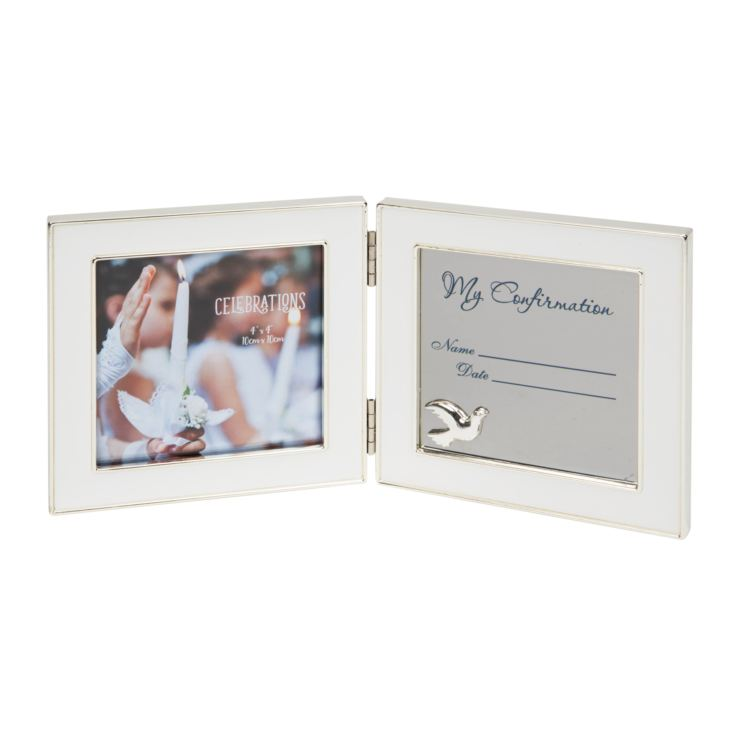 "4"" x 4"" - Engravable Hinged Photo Frame - Confirmation product image"