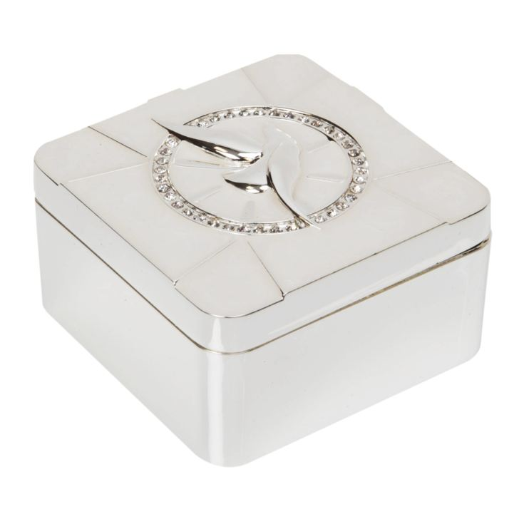 Silver Plated & Epoxy Dove Trinket Box product image