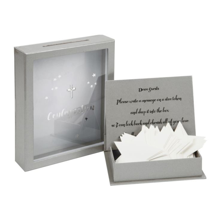 Confirmation Token Box with 3D Star Shaped Message Cards product image