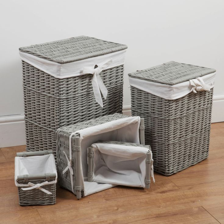 Bambino Set of 5 Rectangular Storage Baskets product image