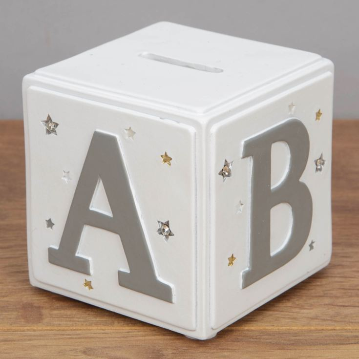 Bambino White & Grey Money Box - ABC product image
