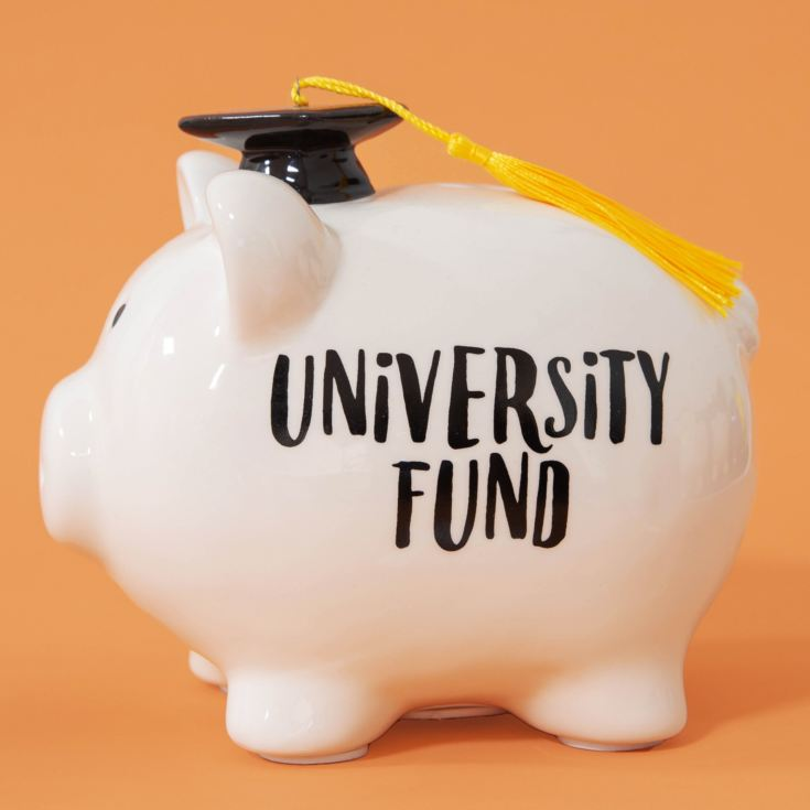 Pennies & Dreams Ceramic Piggy Bank - University Fund product image