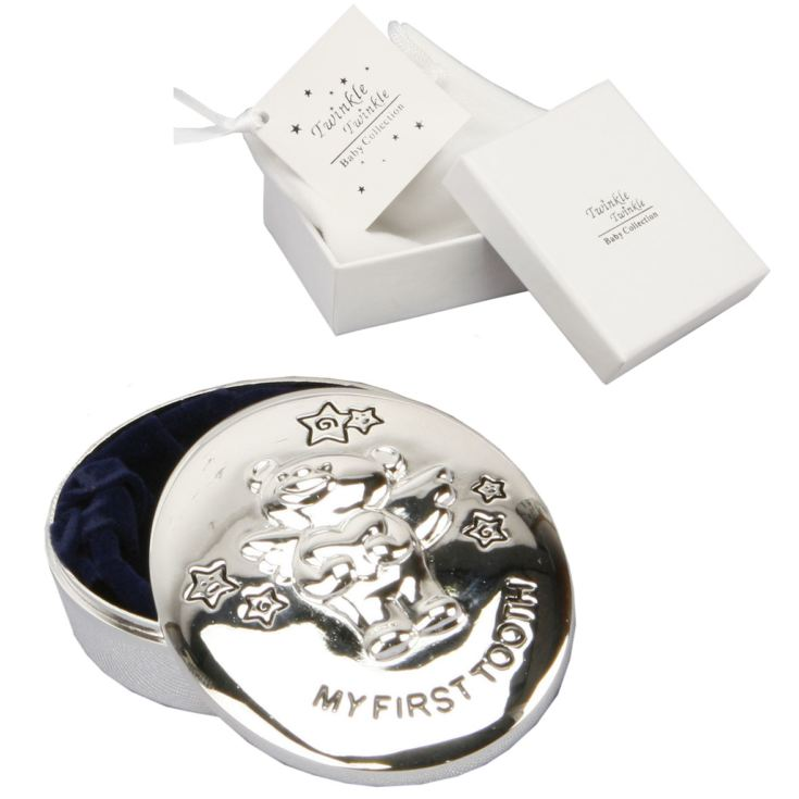 Twinkle Twinkle Silverplated My First Tooth Keepsake Box product image