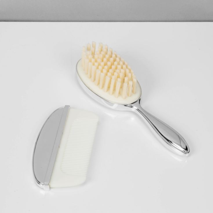 Bambino Baby Silver Plated Brush & Comb Set product image