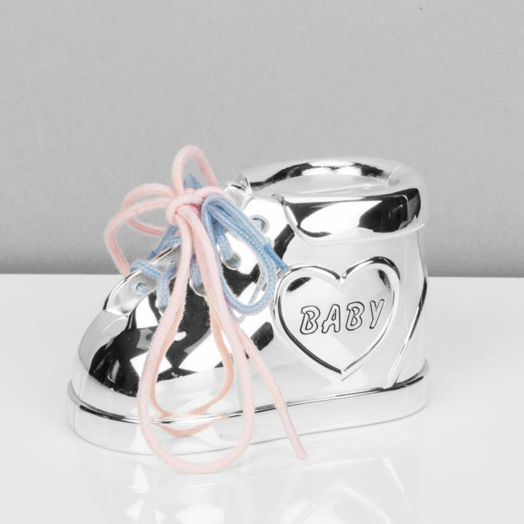 Bambino Silver Plated Baby Bootie Money Box product image
