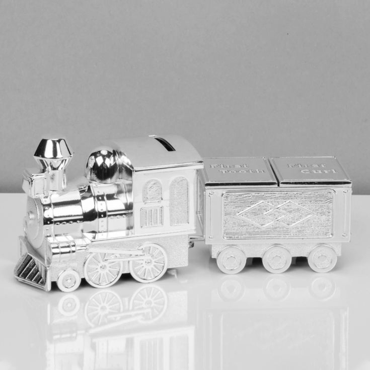 Bambino Silver Plated Train Money Box & Tooth/Curl Carriage product image