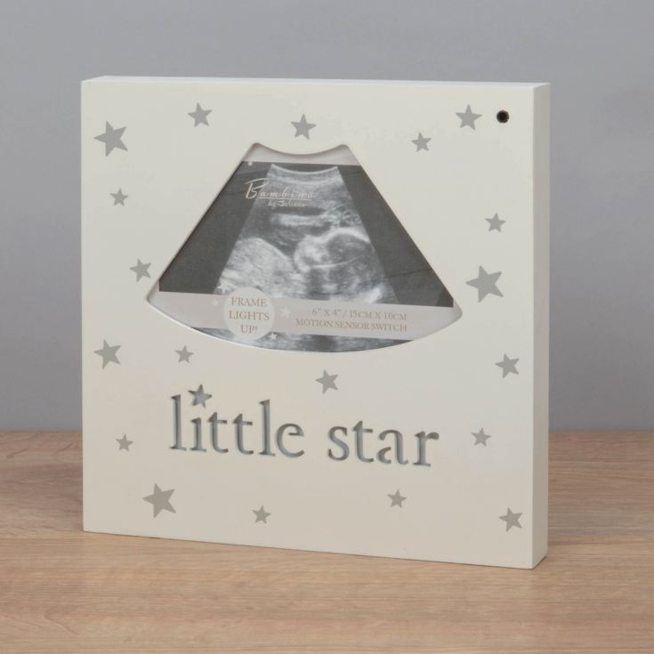 "4"" x 3"" - Bambino Little Star Light Up Scan Photo Frame product image"