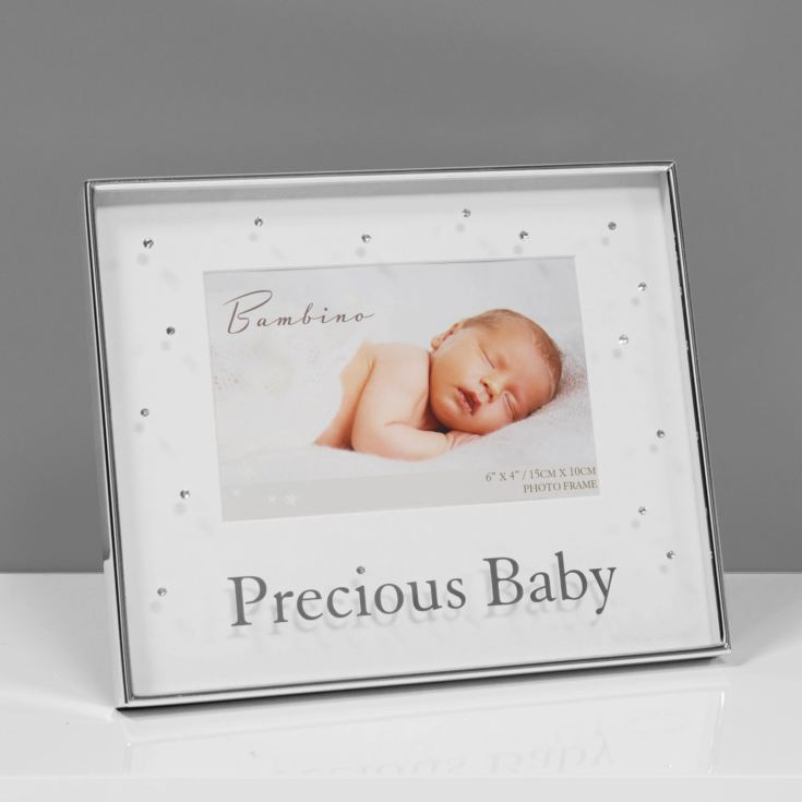 "6"" x 4"" - Bambino Silver Plated Photo Frame - Precious Baby product image"