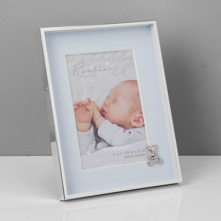 "4"" x 6"" - Bambino Silver Finish Frame - Teddy & Blue Mount product image"