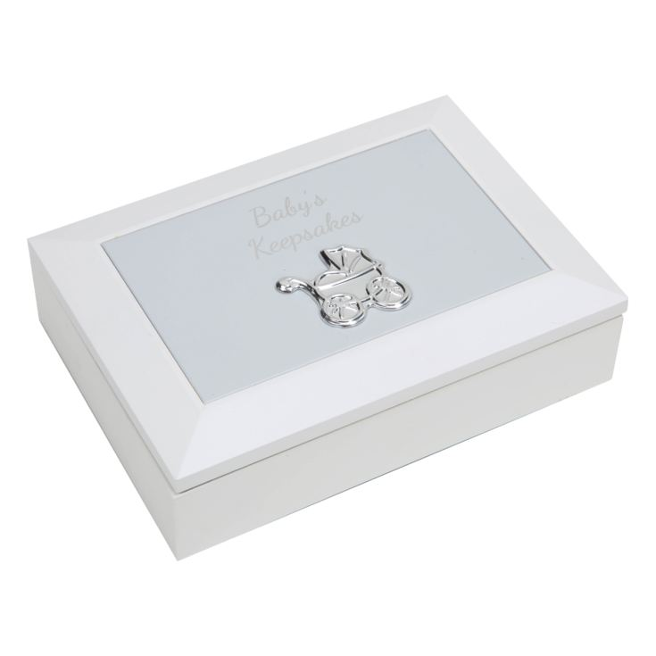 CELEBRATIONS® Baby's Keepsake Box with Embossed Metal Lid product image
