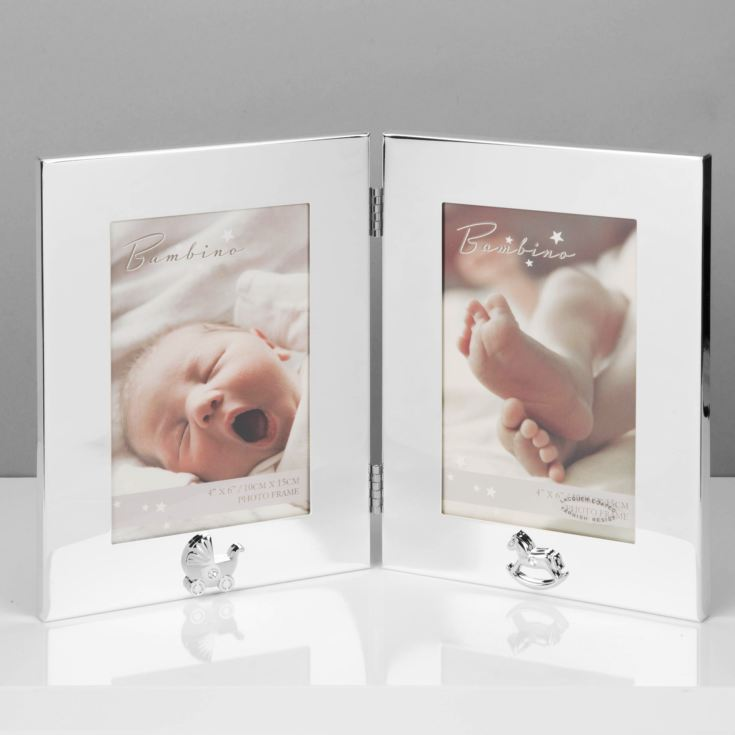 "4"" x 6"" - Bambino Keepsake Double Photo Frame product image"