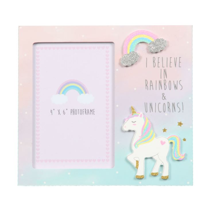 "4"" x 6"" - Unicorn Magic Photo Frame - I Believe in Rainbows product image"