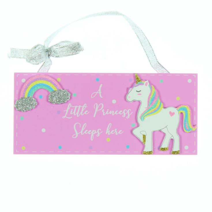 Unicorn Magic Plaque - A Little Princess Sleeps Here product image