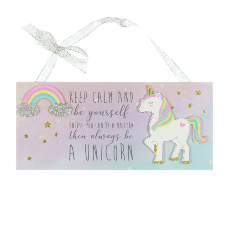 Unicorn Magic Plaque - Keep Calm And Be Yourself product image