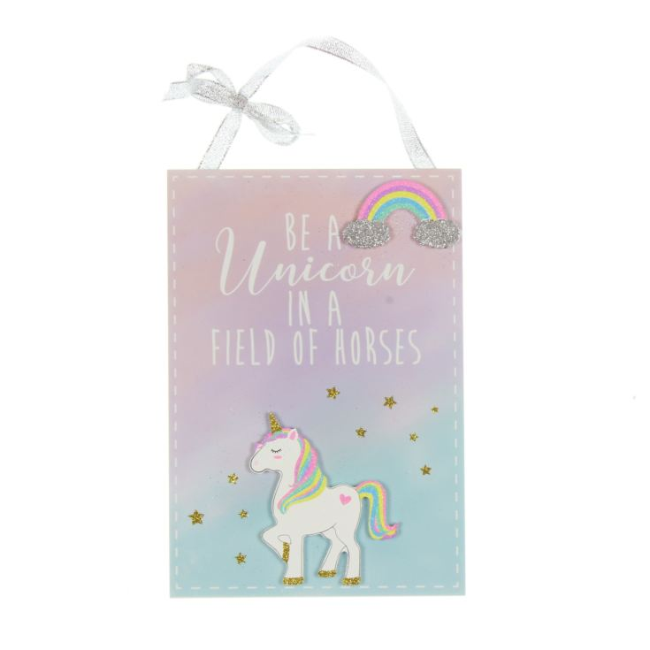 Unicorn Magic Plaque - Be a Unicorn in a Field of Horses product image