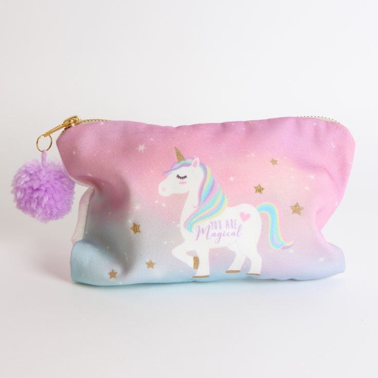 Unicorn Magic Collection Cosmetic Bag with Pom Pom product image