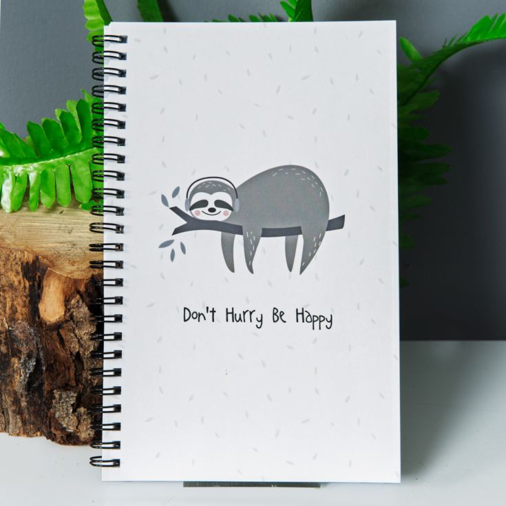 Animal Friends Monochrome Sloth Notebook - A5 product image