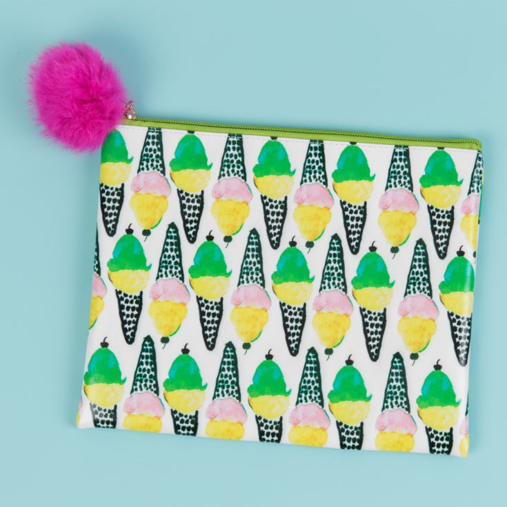 Ice Cream Pouch with Pom Pom Zipper product image