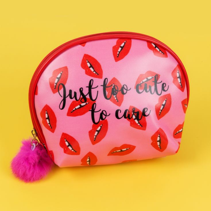 'Lips' Cosmetic Bag with Pom Pom Zipper product image