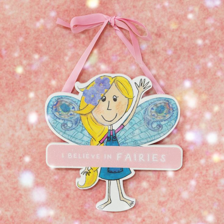 Magical Fairy Hanging Plaque - Believe In Fairies product image