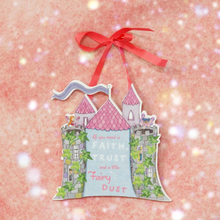 Magical Fairy Castle Hanging Plaque product image