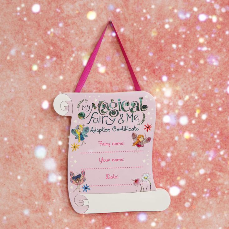 The Magical Fairy Hanging Adoption Plaque 19cm x 21cm product image
