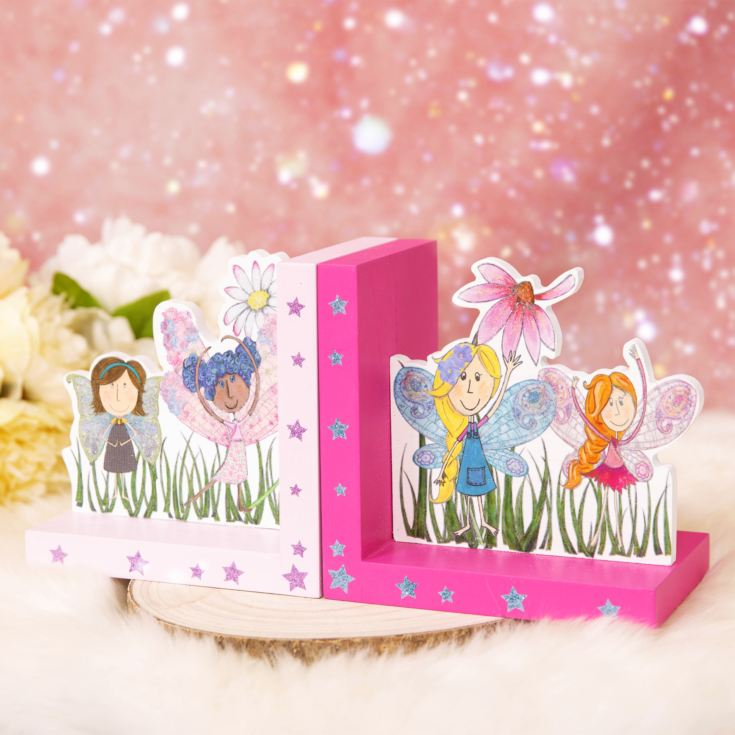 Magical Fairy Glittering Bookends product image