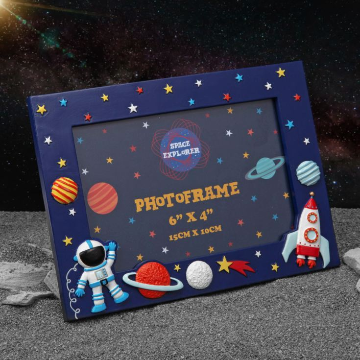 "6"" x 4"" - Space Explorer 3D Resin Frame product image"