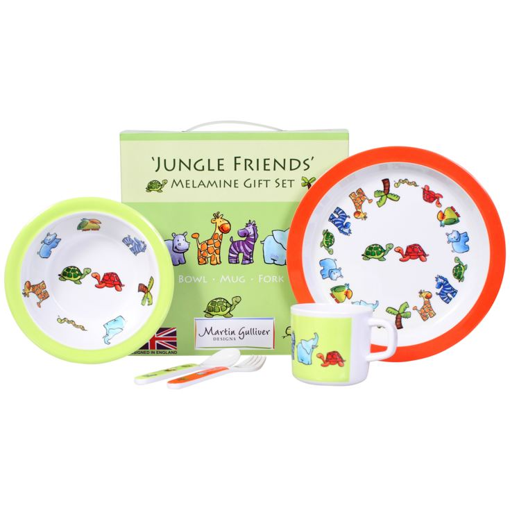 Jungle Friends 7 Piece Melamine Dining Set product image