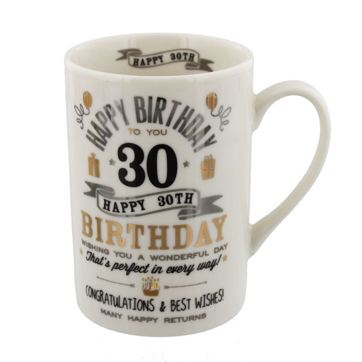 Signography Silver & Gold 30th Birthday Mug product image