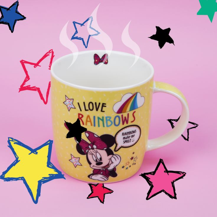 Disney Minnie Mouse Yellow Rainbow Mug product image