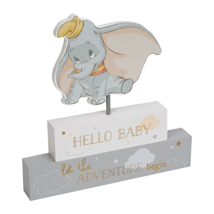 Disney Magical Beginnings Mantel Block - Hello Baby product image