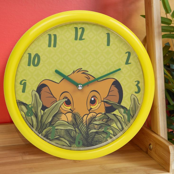 Disney Lion King Simba Wall Clock with Glow In The Dark Dial product image