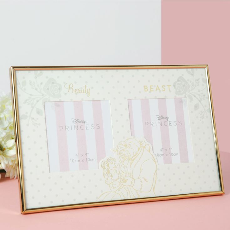 Disney Happily Ever After Double Frame - Beauty & The Beast product image