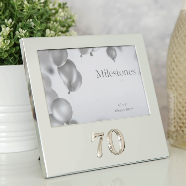 "6"" x 4"" - Milestones Birthday Frame with 3D Number - 70 product image"