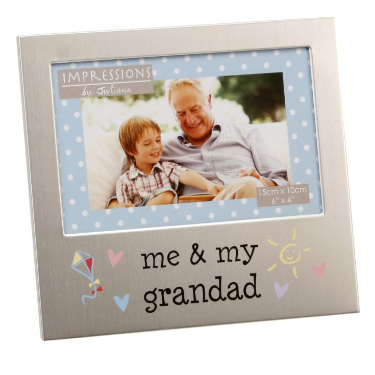"6"" x 4"" - Aluminium Me & My Grandad Photo Frame product image"