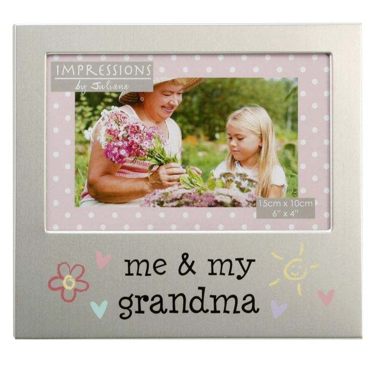 "6"" x 4"" - Aluminium Photo Frame - Me & My Grandma product image"