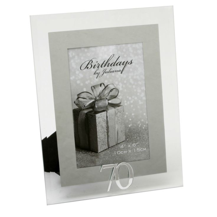 "4"" x 6"" - Birthdays by Juliana Photo Frame - 70th product image"
