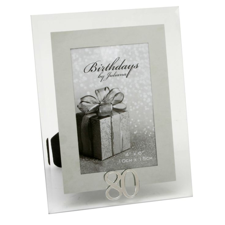 "4"" x 6"" - Birthdays by Juliana Photo Frame - 80th product image"