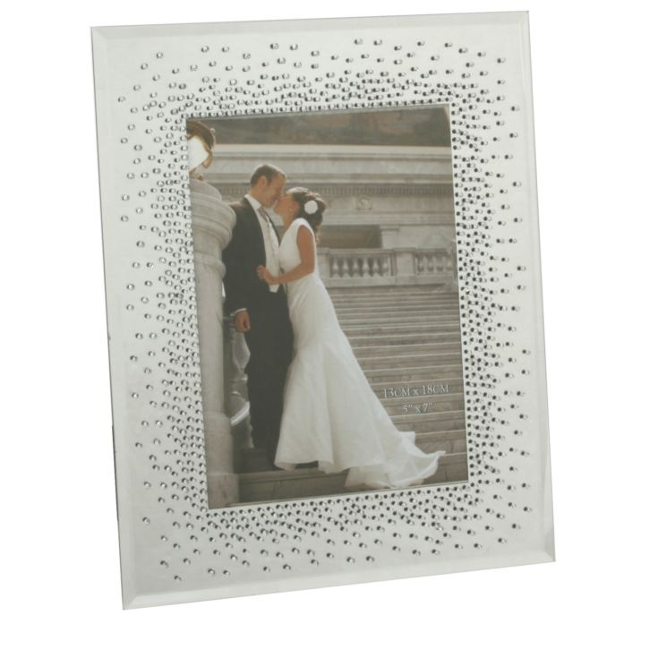 "5"" x 7"" - Celebrations Wedding Starburst Crystal Frame product image"