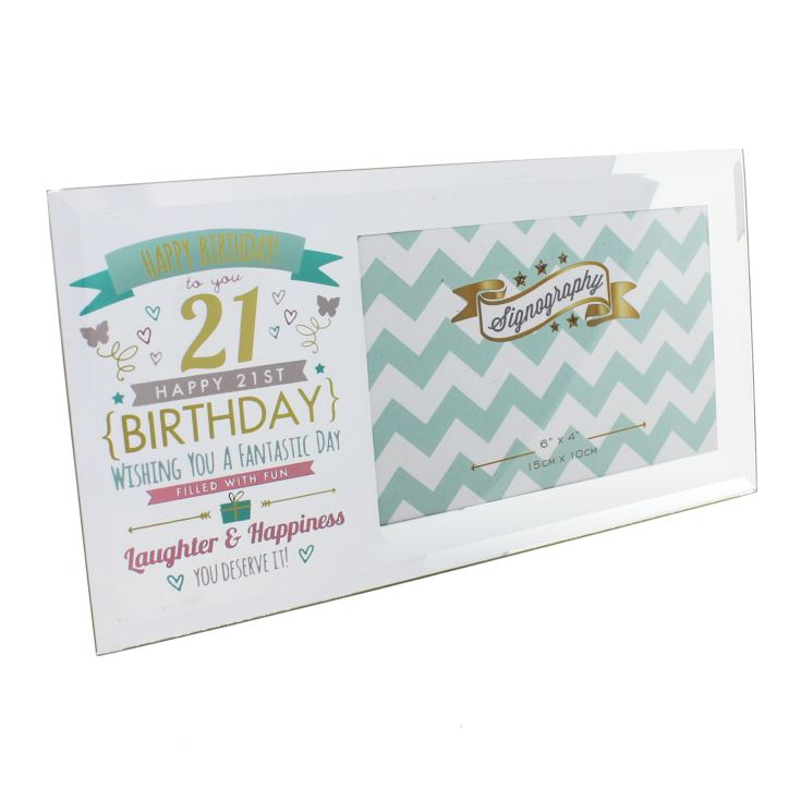 "6"" x 4"" - Signography 21st Birthday Glass Frame product image"