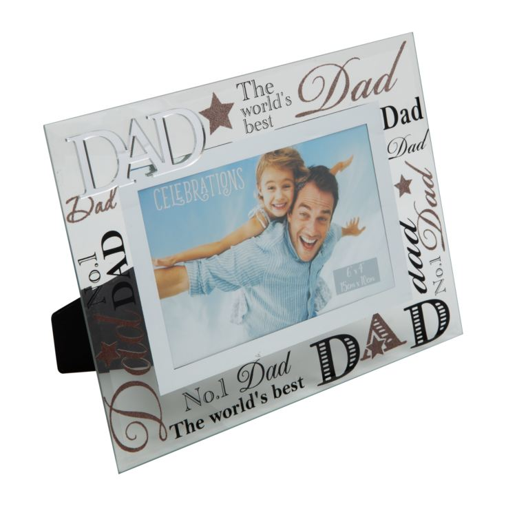 "6"" x 4"" - Glass Photo Frame - Dad product image"
