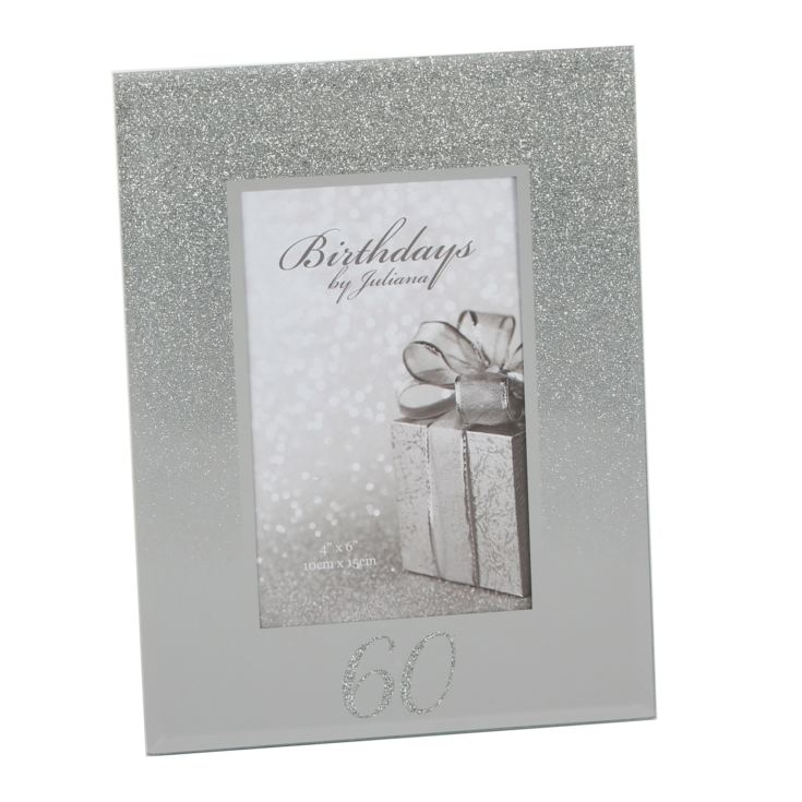 "4"" x 6"" - Birthdays by Juliana Glitter Mirror Frame - 60th product image"