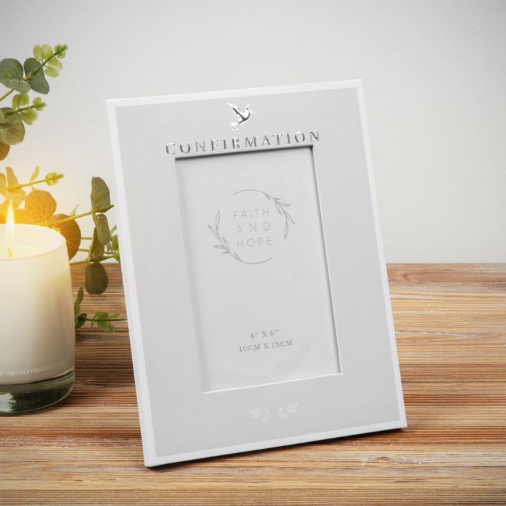 "Faith & Hope Confirmation Photo Frame - 4"" x 6"" product image"