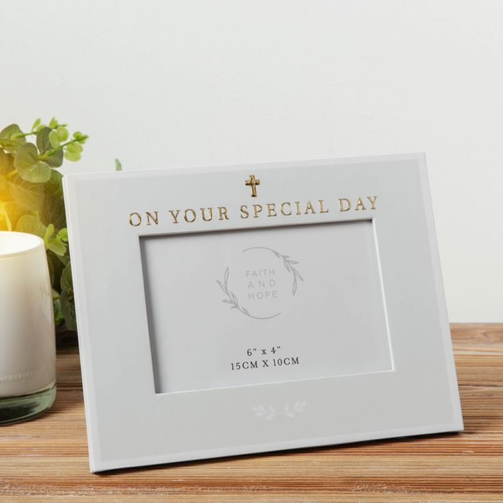 "6"" x 4"" - Faith & Hope Photo Frame - On Your Special Day product image"
