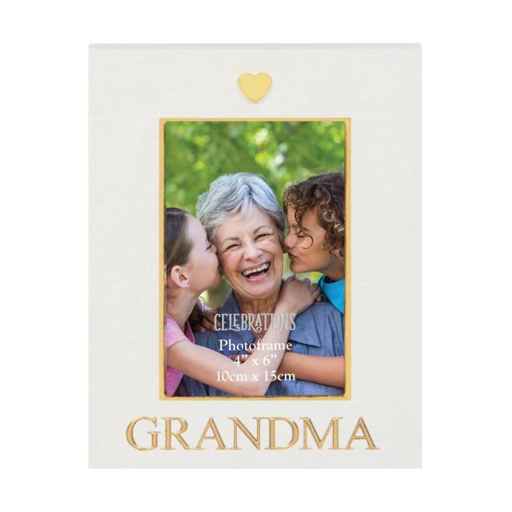 "4"" x 6"" - Celebrations Linen Look Photo Frame - Grandma product image"