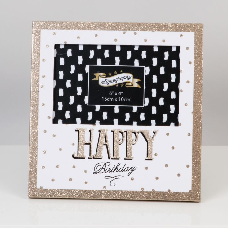 "6"" x 4"" - Signography Photo Frame - Happy Birthday product image"