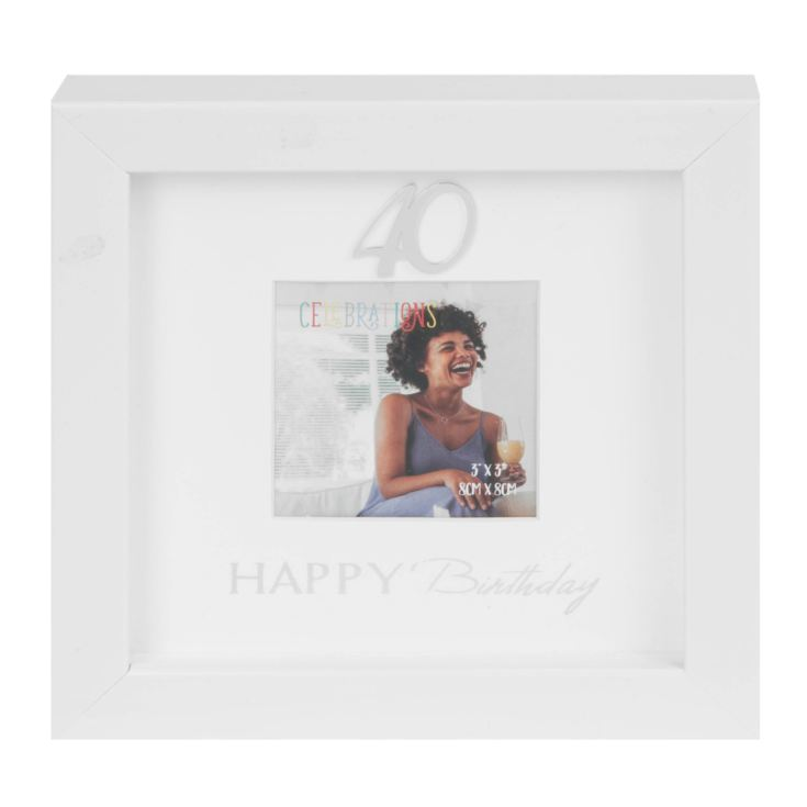 "3"" x 3"" - Happy Birthday Box Photo Frame - 40th product image"