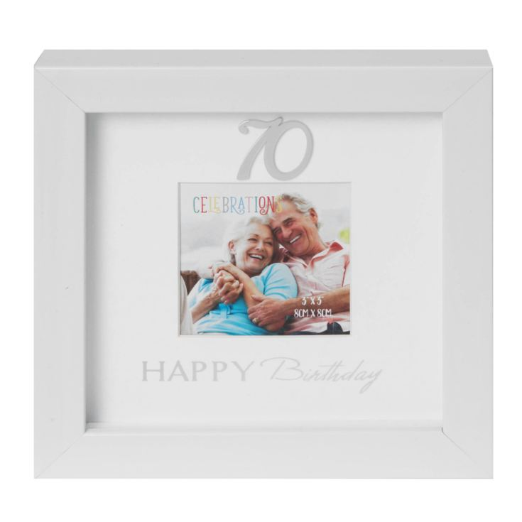 "3"" x 3"" - Happy Birthday Box Photo Frame - 70th product image"