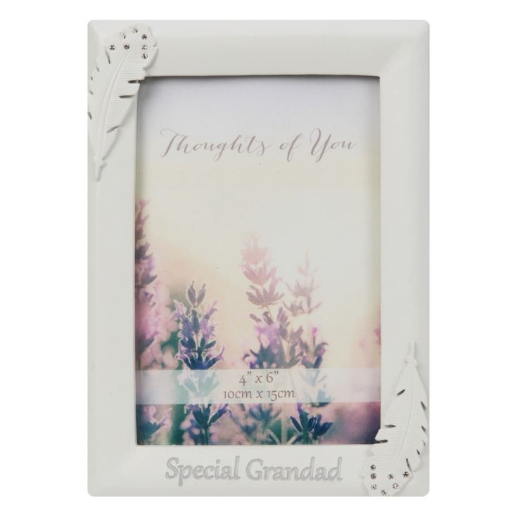 "4"" x 6"" - Thoughts of You Frame with Crystals - Grandad product image"